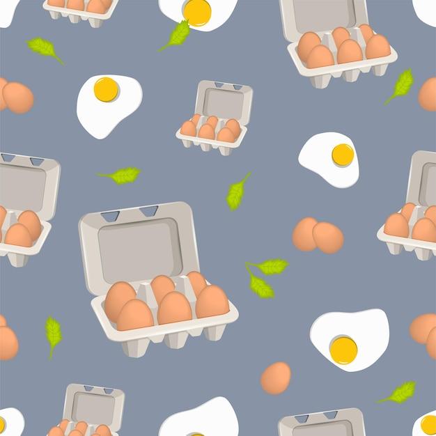 Modello di uova in scatola Vettore Premium