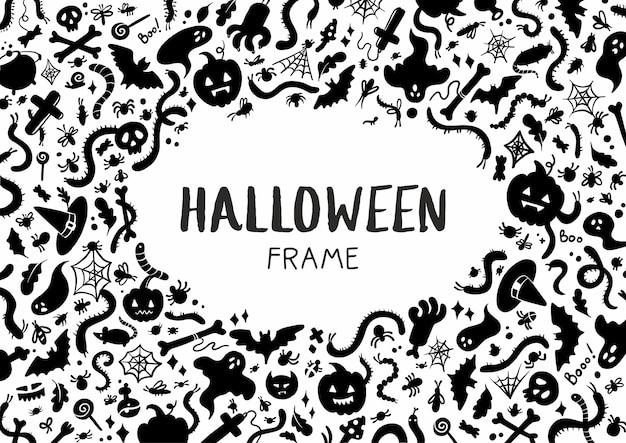 Modello per cornice di sagome di halloween