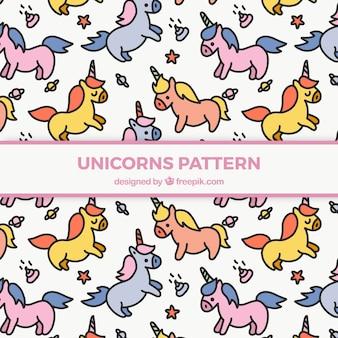 Disegno di unicorni disegnati a mano