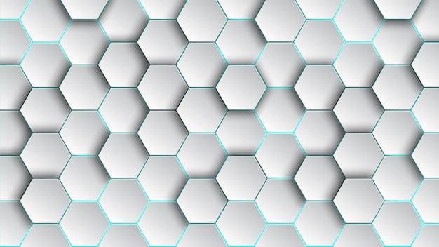 Carta da parati astratta e geometrica del fondo di esagono del modello con forma di web della copertura