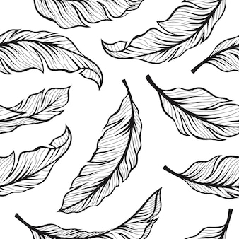 Senza cuciture delle foglie di banana nel design vintage