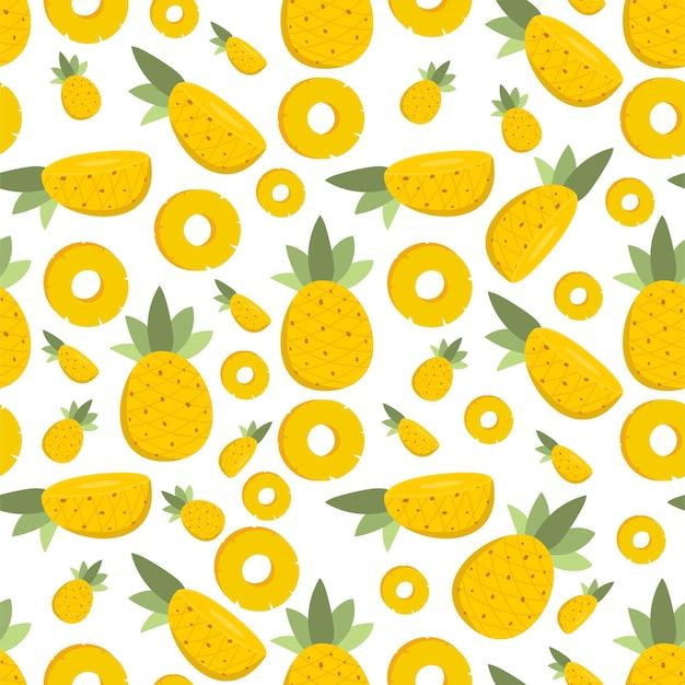 Fetta di ananas frutta estiva senza cuciture modello