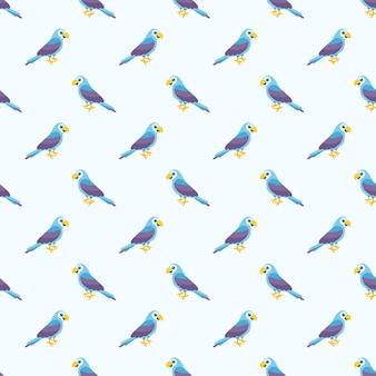 Modello con pappagalli blu