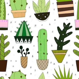 Motivo con cactus