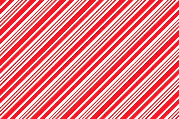 Modello con strisce di bastoncini di zucchero. sfondo di natale senza soluzione di continuità. illustrazione vettoriale.