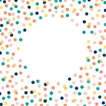 Modello con sfondo di puntini di colore per l'illustrazione vettoriale di web design. bandiera di concetto. carta da parati alla moda.