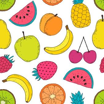 Modello con frutti colorati