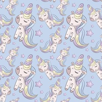 Modello con unicorni carino