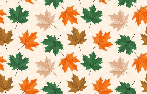 Senza cuciture con foglie d'acero autunnali.