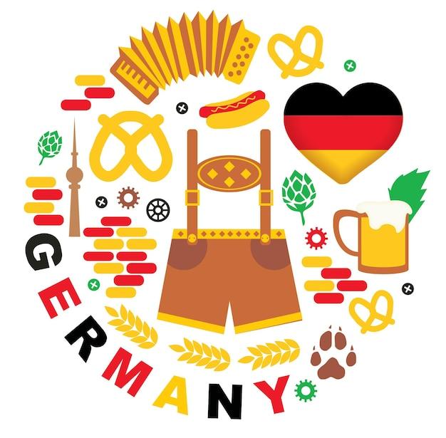 Modello con icone germania germany