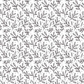 Pattern con foglie