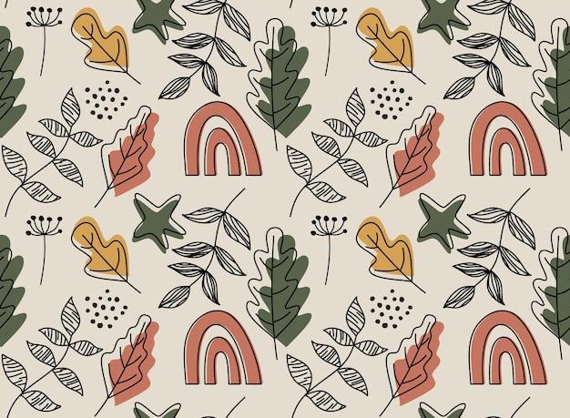 Pattern con foglie.