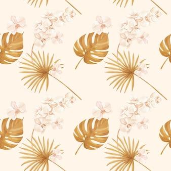 Modello con acquerello floreale di pampa