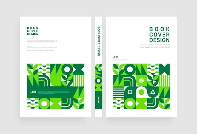 Disegno della copertina del libro a motivi geometrici