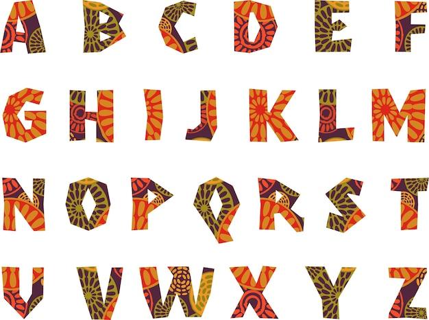 Alfabeto tribale fantasia