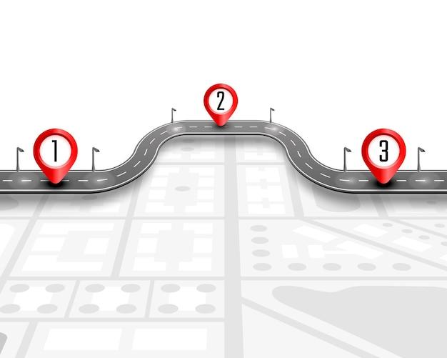 Sentiero lastricato sullo sfondo della posizione della strada.