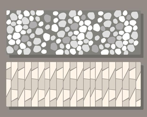 Pavimentazione in mattoni seamless texture, muro di pietra