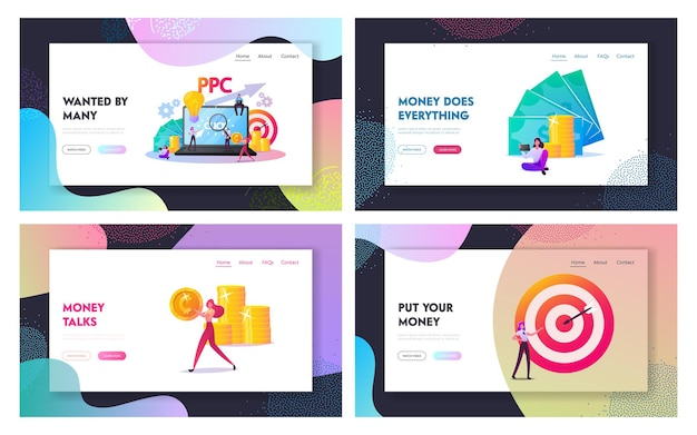 Pay per click landing page template set.
