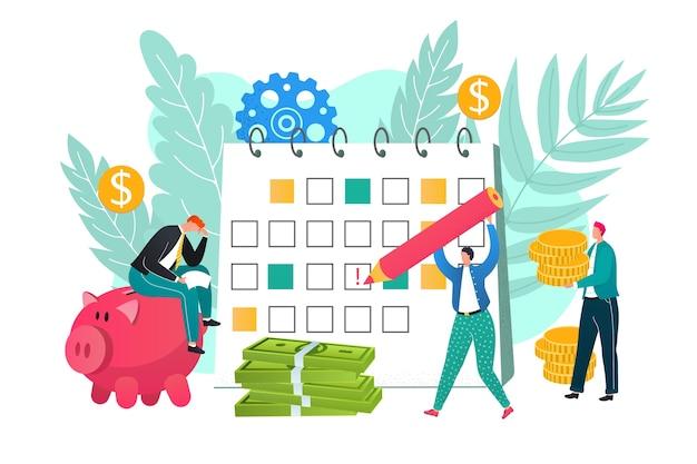 Illustrazione di concetto di prestiti con anticipo sullo stipendio