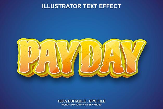 Effetto testo giorno di paga modificabile