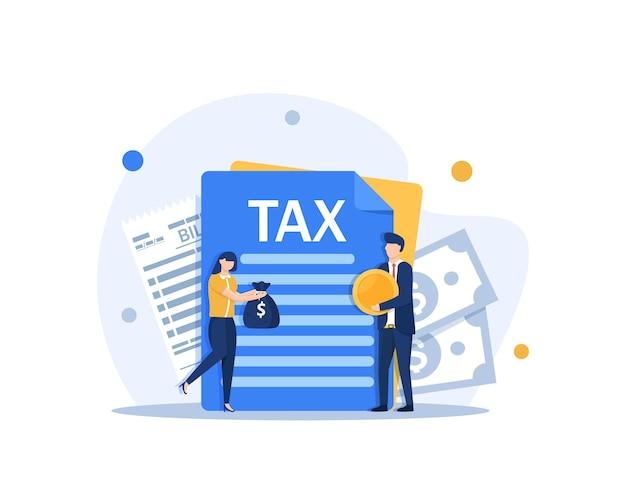 Concetto di pagamento delle tasse tasse governative e statali