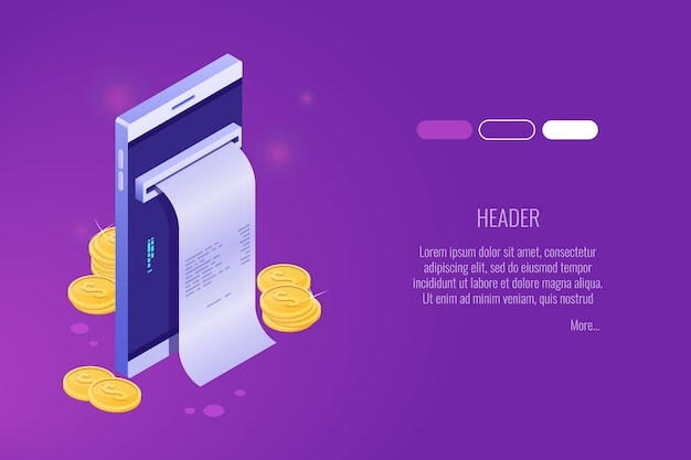 Pagamento tramite telefono cellulare, pagamenti elettronici online, borsa mobile