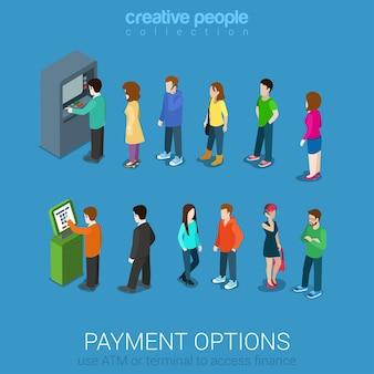 Opzioni di pagamento bancario finanziare denaro