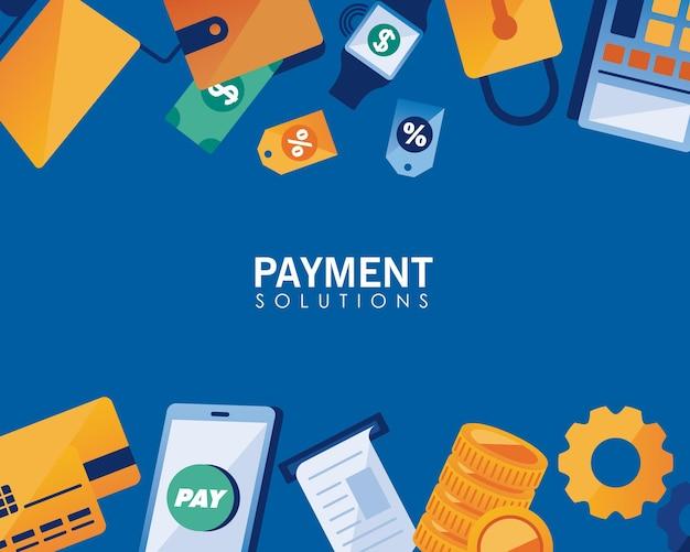 Icone soluzioni di pagamento