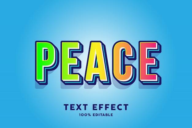 Peace africa effetto testo