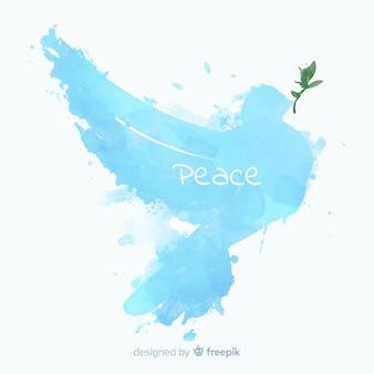 Fondo di giorno di pace con la colomba astratta