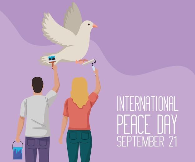 Colomba della pace e pacifisti