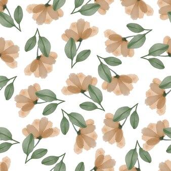Modello senza cuciture di fiori di pesco per il design tessile