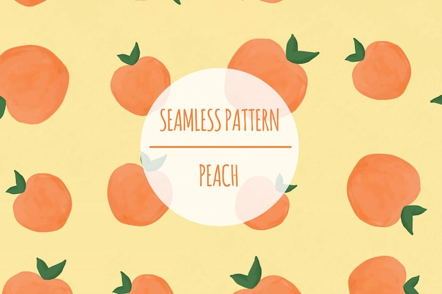 Peach acquerello seamless pattern premium