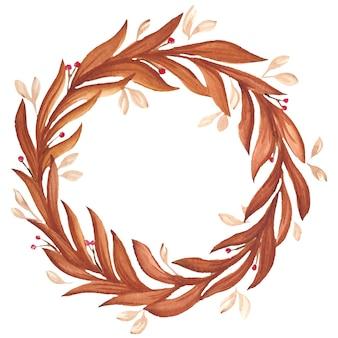 Illustrazione degli elementi dell'acquerello del fiore del salice della pesca