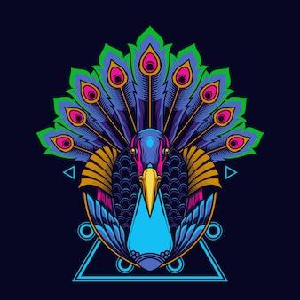 Illustrazione di pavone