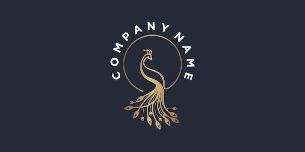 Riferimento per il design del logo del pavone