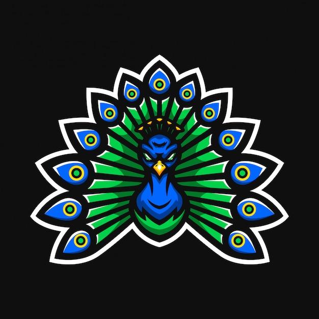 Logo della mascotte di pavone