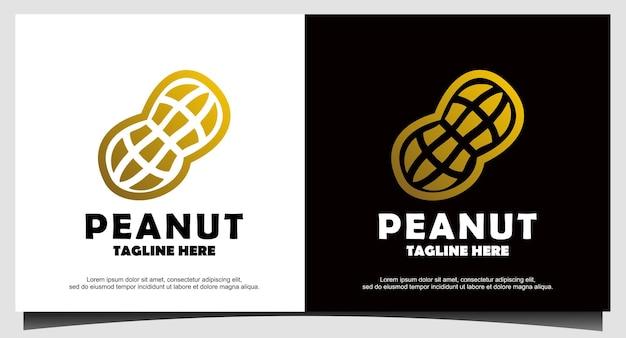Vettore di disegno del logo di arachidi