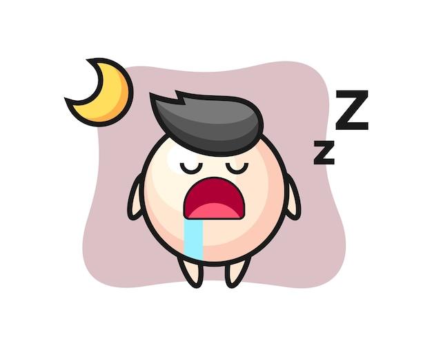 Fumetto del carattere della perla che dorme la notte