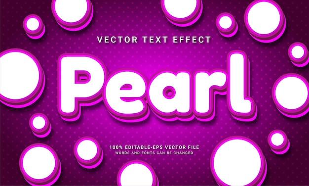 Gioielli di lusso a tema con effetto testo modificabile perla