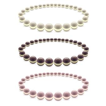 Set di decorazioni perline di perle. gioielli da donna.