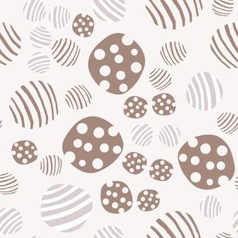 Reticolo senza giunte del ciottolo. fondo punteggiato geometrico astratto di struttura. carta da parati con pietre disegnate a mano. illustrazione vettoriale