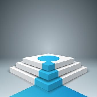 Piedistallo, scala, stail per i vincitori - infografica di business. Vettore Premium