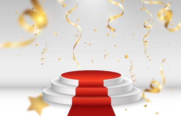 Piedistallo o piattaforma per onorare i vincitori del premio