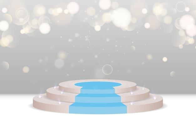Un piedistallo o una piattaforma per onorare i vincitori e le presentazioni vector