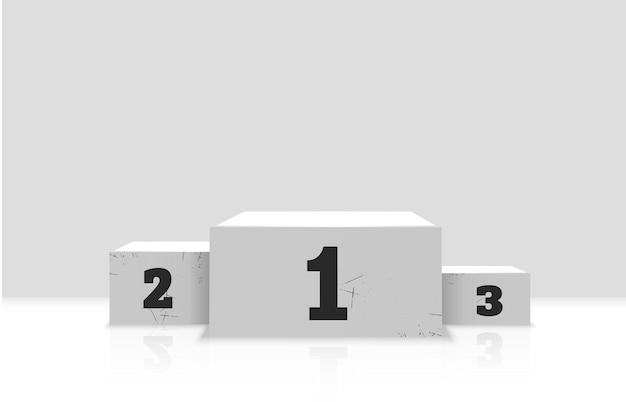 Un piedistallo o una piattaforma per onorare i vincitori illustrazione vettoriale
