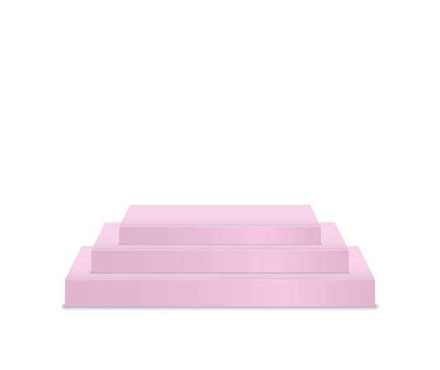 Piedistallo e pedana palco cilindrico palchi tondi e quadrati vuoti e scale a podio d