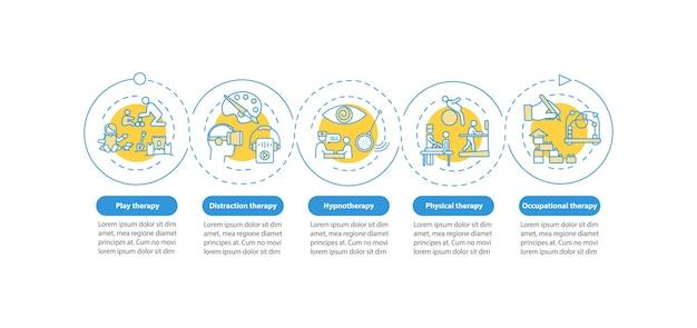 Modello di infografica cure palliative pediatriche