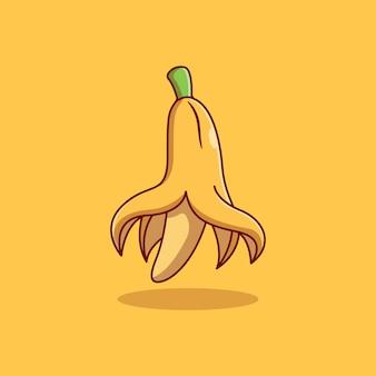 Disegno dell'illustrazione di vettore della frutta della banana sbucciata