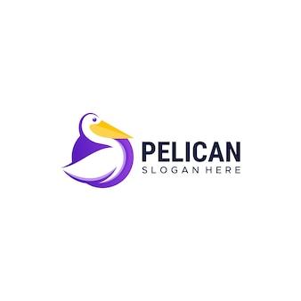 Modello di progettazione di logo di pellicano